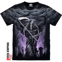 T-shirt Youth fashion Black, dt-14 routine M110-155kg, l160-190kg, xl200-240kg, 2xl240-280kg Rock Empire Short sleeve Crew neck easy daily summer DT-13 Cotton 100% teenagers routine tide Sweat cloth 2019 character printing cotton 3D effect No iron treatment Fashion brand More than 95%