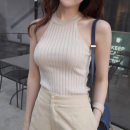 Vest sling Summer of 2019 Black, white, gray, picture color Average size have cash less than that is registered in the accounts Self cultivation Versatile I-shaped Solid color 18-24 years old cotton Other / other