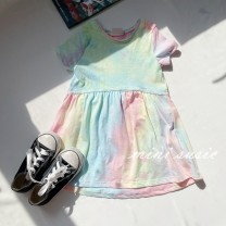 Dress Halo dyed skirt, defect does not return female Other / other 2,3,4,5,6,7,8,9-10 Cotton 60% other 40% summer leisure time Short sleeve Solid color cotton A-line skirt 2 years old, 3 years old, 4 years old, 5 years old, 6 years old, 7 years old, 8 years old
