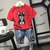 T-shirt Black, red Other / other 100cm,110cm,120cm,130cm,140cm male 2 years old, 3 years old, 4 years old, 5 years old, 6 years old, 7 years old, 8 years old