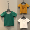 T-shirt White, red, green, camel, black, orange, pink, rose, violet, watermelon red, sky blue, yellow, light green, emerald green, fluorescent green Other / other female summer Short sleeve Crew neck No model nothing other Solid color Other 100% Class B other