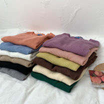 Wool knitwear Autumn 2020 Average size Black, white, gray, purple, blue, green, yellow, apricot, coffee, pink, oat, orange Long sleeves Socket acrylic fibres More than 95% Regular commute Korean version 18-24 years old