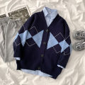 Fashion suit Winter 2020 Average size Blue sweater, blue shirt 18-25 years old 96% and above polyester fiber