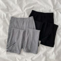 Casual pants Black, gray Average size Spring 2021 trousers Wide leg pants High waist commute routine 18-24 years old 51% (inclusive) - 70% (inclusive) cotton Korean version fold cotton