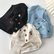 Wool knitwear Spring 2021 Average size Black, blue, white Short sleeve singleton  Socket acrylic fibres More than 95% have cash less than that is registered in the accounts routine commute Self cultivation Polo collar routine other Socket Korean version 18-24 years old