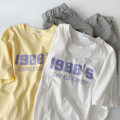 T-shirt Yellow, white Average size Spring 2021 Short sleeve Crew neck easy Regular routine commute cotton 96% and above 18-24 years old Korean version classic letter