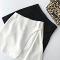 skirt Spring 2021 S,M,L Black, white Short skirt commute High waist A-line skirt Solid color 18-24 years old More than 95% other polyester fiber zipper Korean version