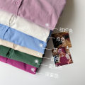 shirt Average size Spring 2021 cotton 51% (inclusive) - 70% (inclusive) Long sleeves commute Regular Polo collar Single row multi button shirt sleeve Solid color 18-24 years old Straight cylinder Korean version Button polyester cotton