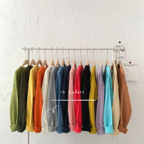 sweater Autumn 2020 Average size Black, Navy, lake blue, purple, rose red, orange, coffee, lemon yellow, white, flower gray, cowboy blue, forest green, fruit green, pink, mustard yellow, cream yellow Long sleeves Socket singleton  Regular acrylic fibres 95% and above Crew neck Regular commute routine