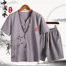 T-shirt other routine M,L,XL,2XL,3XL,4XL,5XL Others Short sleeve V-neck standard Other leisure summer Cotton 100% middle age routine Chinese style 2020 cotton