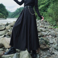 skirt Spring 2021 Small, large black longuette commute Natural waist Pleated skirt Solid color Type A 18-24 years old QL200322123 51% (inclusive) - 70% (inclusive) other Big dragon shop polyester fiber Pocket, asymmetric, button, zipper, thread trim, pleat Simplicity
