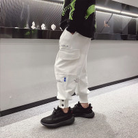trousers Other / other male 110cm / 110, 120cm / 120, 130cm / 130, 140cm / 140, 150cm / 150, 160cm / 160, 170cm / 170 White, gray, black, white reservation, gray reservation, black reservation spring and autumn trousers solar system There are models in the real shooting Casual pants Leather belt --
