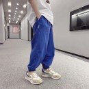trousers Other / other male 120cm / 120, 130cm / 130, 140cm / 140, 150cm / 150, 160cm / 160, 170cm / 170 Black, blue, black reservation, blue reservation summer trousers Korean version There are models in the real shooting Casual pants Leather belt middle-waisted Cotton blended fabric -- --