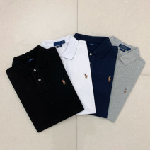 Polo shirt Other / other Fashion City routine White, black, gray, navy S,M,L,XL,2XL Self cultivation Other leisure summer Long sleeves routine youth Solid color cotton Embroidery More than 95%