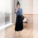 Fashion suit Spring 2021 S,M,L,XL Blue, blue short sleeves 25-35 years old T7703