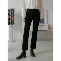 Jeans Spring 2021 Blue, black, apricot S,M,L,XL trousers High waist Straight pants routine 18-24 years old LOVEHEYNEW 51% (inclusive) - 70% (inclusive)