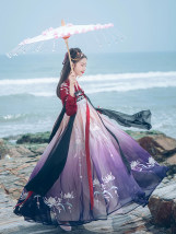 National costume / stage costume Summer of 2018 Only one piece for shangru - only one piece for lower skirt in stock - only one piece for lower skirt in stock - delivery in late October S M L HDJ098 Hualian in Han Dynasty 18-25 years old