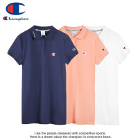 Dress Summer 2021 White, pink, blue S,M,L,XL Mid length dress singleton  Short sleeve street Polo collar Loose waist Solid color Three buttons One pace skirt shirt sleeve Others Type H CHAMPION Embroidery, buttons, embroidery More than 95% brocade cotton Sports & Leisure