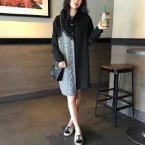 Dress Spring 2021 Black (stock) S,M,L,XL,2XL Qi Yixin QYX0827-3