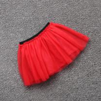 skirt 110cm,120cm,130cm,140cm,150cm,155cm,160cm Black, blue, red Mitt female Cotton 100%