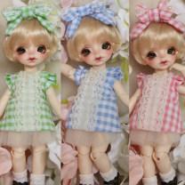 BJD doll zone suit 1/8 Over 14 years old goods in stock Blue Plaid suit, Pink Plaid suit, green plaid suit 8 points default size