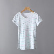 T-shirt White / C + Dutch women's polka dot short sleeve T-shirt, blue / C + Dutch women's polka dot short sleeve T-shirt, pink / C + Dutch women's polka dot short sleeve T-shirt GB: XS (155 smaller), GB: s (160 smaller), GB: m (165 smaller) Short sleeve Crew neck cotton 96% and above Other / other