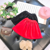 skirt Size 5, recommended height 90cm, size 7, recommended height 100cm, size 9, recommended height 110cm, size 11, recommended height 120cm, size 13, recommended height 130cm Black, red Other / other female Other 100% winter skirt Versatile Solid color other Wool