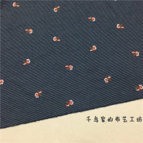 Fabric / fabric / handmade DIY fabric cotton Navy Blue Loose shear rice Plants and flowers jacquard weave clothing Chinese style 41% (inclusive) - 50% (inclusive)