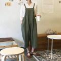 Casual pants S,M,L Summer of 2018 Ninth pants rompers Natural waist commute routine 81% (inclusive) - 90% (inclusive) hemp Korean version straps hemp