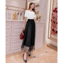 skirt Spring 2021 M,L,XL black Mid length dress commute High waist Solid color 25-29 years old 51% (inclusive) - 70% (inclusive) other Queen's family Korean version