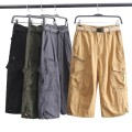 Casual pants Others Fashion City Grey, black, khaki, army green M,L,XL,2XL,3XL routine Cropped Trousers Other leisure Straight cylinder summer Military brigade of tooling 2019 Medium high waist Straight cylinder Overalls Pocket decoration Solid color