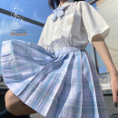 skirt Summer 2020 S,XS,L,M,XL Same style bow tie, buy it in the store, the skirt length is 42cm, the skirt length is 45cm, the skirt length is 48CM, take a picture and send it out in about 10 days Cloud water ballad
