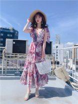 Dress Spring 2021 PNK pink, Blu blue, Berg Beige S, M S5-3-2