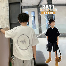 T-shirt White, black, white pre-sale, black pre-sale Other / other 130, 140, 150, 160, 170 male summer Short sleeve Crew neck Korean version There are models in the real shooting nothing cotton other Cotton 95% other 5% XHQ12TX1258 Class B other Chinese Mainland Guangdong Province Guangzhou City