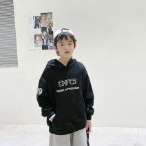 Sweater / sweater Other / other Black, blue male 130, 140, 150, 160, 170 spring and autumn No detachable cap Korean version Socket routine There are models in the real shooting cotton other Cotton 85% polyester 15% XHQ11WY1180 Class B