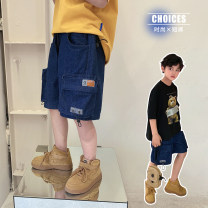 trousers Other / other male 130, 140, 150, 160, 170 Water blue summer shorts Korean version There are models in the real shooting Jeans Leather belt middle-waisted cotton Don't open the crotch Cotton 95% other 5% TJQ12DK1219 Class B TJQ12DK1219 Chinese Mainland Guangdong Province Guangzhou City