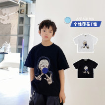 T-shirt White, black Other / other 130, 140, 150, 160, 170 male summer Short sleeve Crew neck Korean version There are models in the real shooting nothing cotton other Cotton 95% other 5% XHQ12TX1255 Class B other Chinese Mainland Guangdong Province Guangzhou City