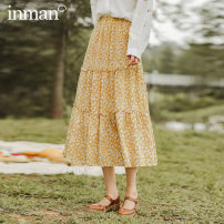 skirt Autumn 2020 S M L XL Yellow primrose green Middle-skirt commute High waist A-line skirt Broken flowers Type A 25-29 years old 180_ TM3339a 51% (inclusive) - 70% (inclusive) brocade Inman / Inman Viscose printing Retro Viscose 52% cotton 48% Same model in shopping mall (sold online and offline)