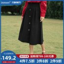 skirt Spring 2021 S M L Midnight Black Khaki Mid length dress Versatile Natural waist A-line skirt Solid color Type A 25-29 years old F181_ TM1436a More than 95% Inman / Inman cotton Button Cotton 100% Same model in shopping mall (sold online and offline)
