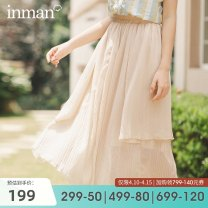 skirt Summer 2020 S M L Light apricot [pre-sale s, April 19 delivery] black [pre-sale, April 19 delivery] Mid length dress Natural waist Irregular Solid color Type A 25-29 years old F180_ TM2513a More than 95% Inman / Inman polyester fiber Polyester 100%