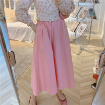 skirt Autumn 2020 Average size Cherry Pink Mid length dress Sweet High waist Umbrella skirt Solid color Type A 18-24 years old 51% (inclusive) - 70% (inclusive) cotton