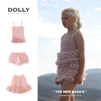 skirt (0-1y)<92cm,(1-3y)92-98cm,(4-6y)98-122cm,(6-8y)122-134cm,(8-12y)134-152cm,(12y+)152-170+cm DOLLY by Le Petit Tom female Polyamide fiber (nylon) 100% summer skirt princess Solid color Cake skirt nylon Frill Series 2 Class B