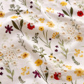 Fabric / fabric / handmade DIY fabric Netting White / 1.25m wide Loose shear piece Plants and flowers printing and dyeing Other hand-made DIY fabrics Europe and America