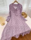 Dress Spring 2021 White, purple, pink Average size Mid length dress singleton  V-neck Socket D.SIXTH