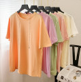 T-shirt White, green, purple, orange, apricot, pink M, L Spring 2021 Crew neck Regular routine other 30% and below D.SIXTH