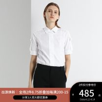 shirt CREAM,U-CREAM 2,4,6,8,10,12 Spring 2020 cotton 96% and above Short sleeve Versatile Regular Polo collar Single row multi button routine Solid color 30-34 years old Self cultivation Ports SV8B023XWC030