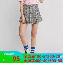 skirt Summer 2020 XS,S,M,L,XL black Short skirt Versatile High waist A-line skirt lattice 25-29 years old 8g031900195 51% (inclusive) - 70% (inclusive) Etam / egger polyester fiber