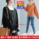 Women's large Spring 2021 Black, orange 3XL,4XL,5XL,6XL shirt singleton  Sweet easy moderate Cardigan Long sleeves Solid color square neck routine Three dimensional cutting shirt sleeve 25-29 years old 51% (inclusive) - 70% (inclusive)