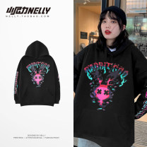 Sweater Youth fashion HEYBIG black S,M,L,XL,2XL,3XL other Socket Plush Hood autumn easy leisure time youth Youthful vigor THWY1138AG printing