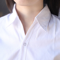 shirt S,M,L,XL,2XL,3XL,4XL,5XL cotton 31% (inclusive) - 50% (inclusive) Short sleeve commute Regular V-neck Single row multi button routine stripe Self cultivation Ol style